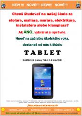 Tablet pre prvákov
